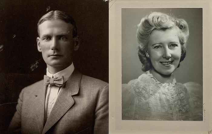 앨버트 W. 테일러와 부인 메리 테일러의 사진