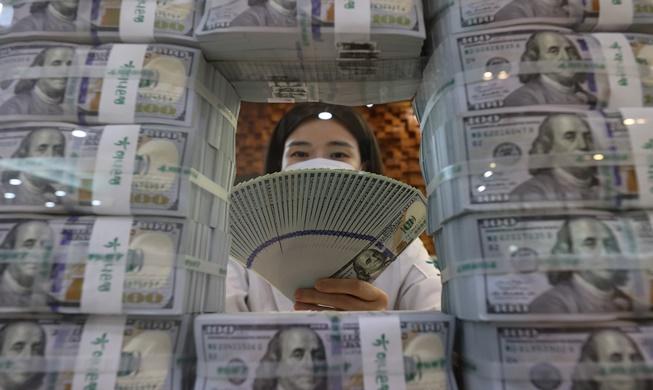 7월 외환보유액 4586억 달러로 사상 최대··· 세계 8위