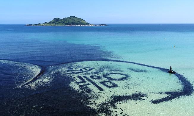 [사진으로 보는 한국] 비취색 제주 바다와 '원담'